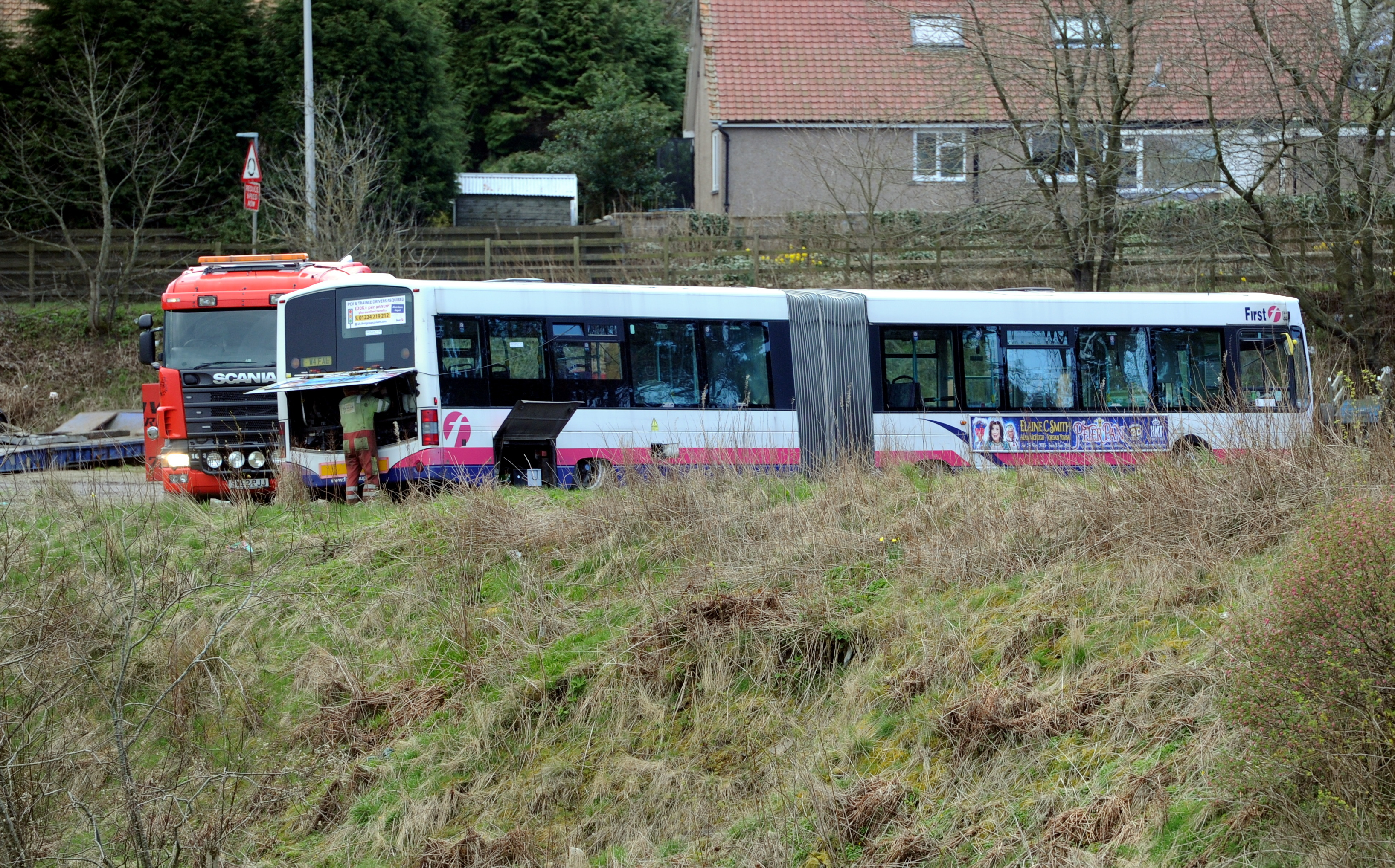 The last remaining bus at the site near Kingswells.