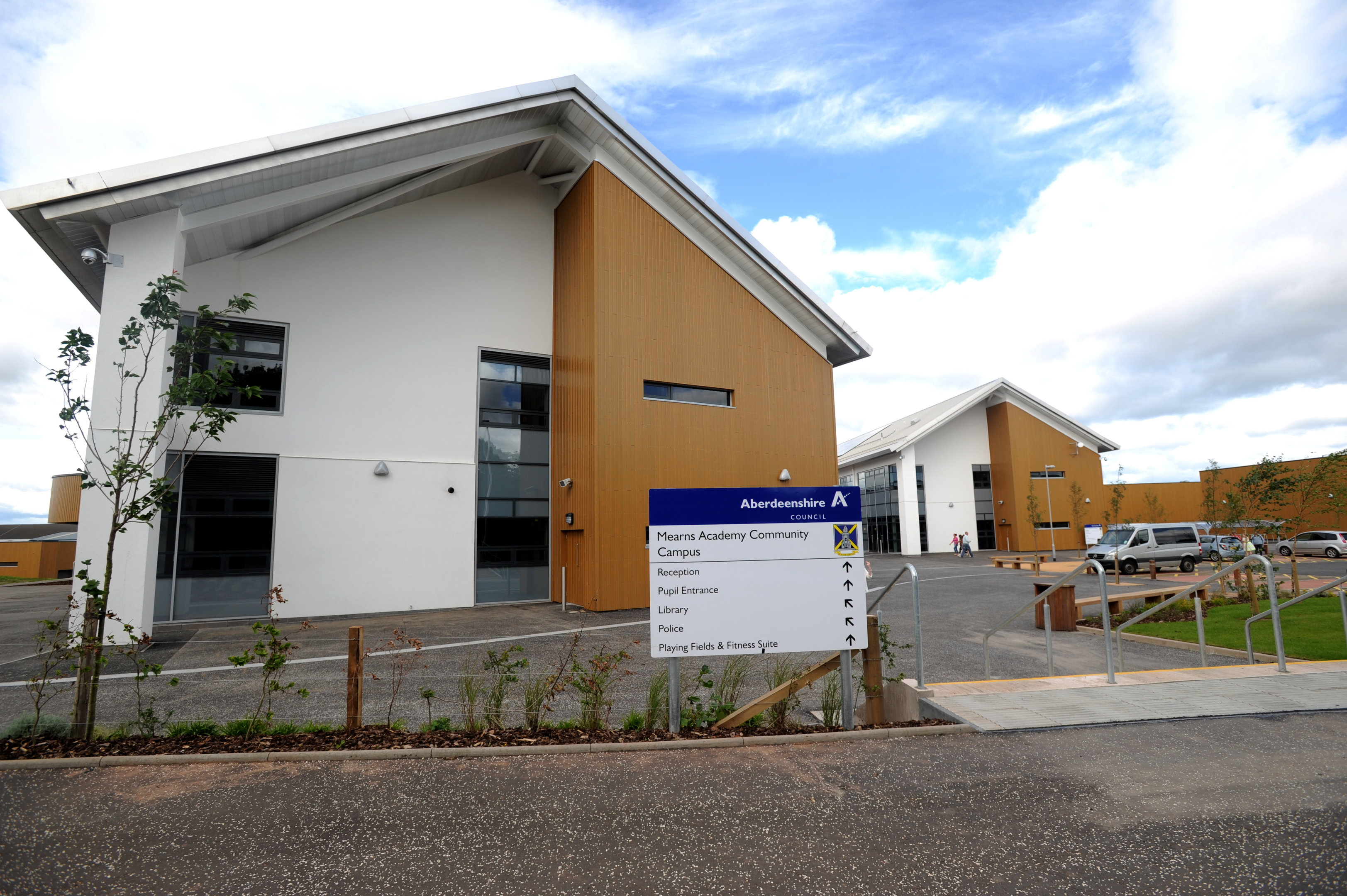 The incident happened at Mearns Academy