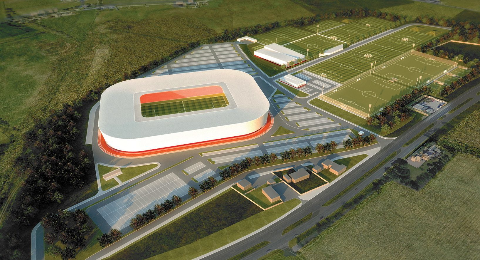 How the new Dons stadium planned for Kingsford could look.
