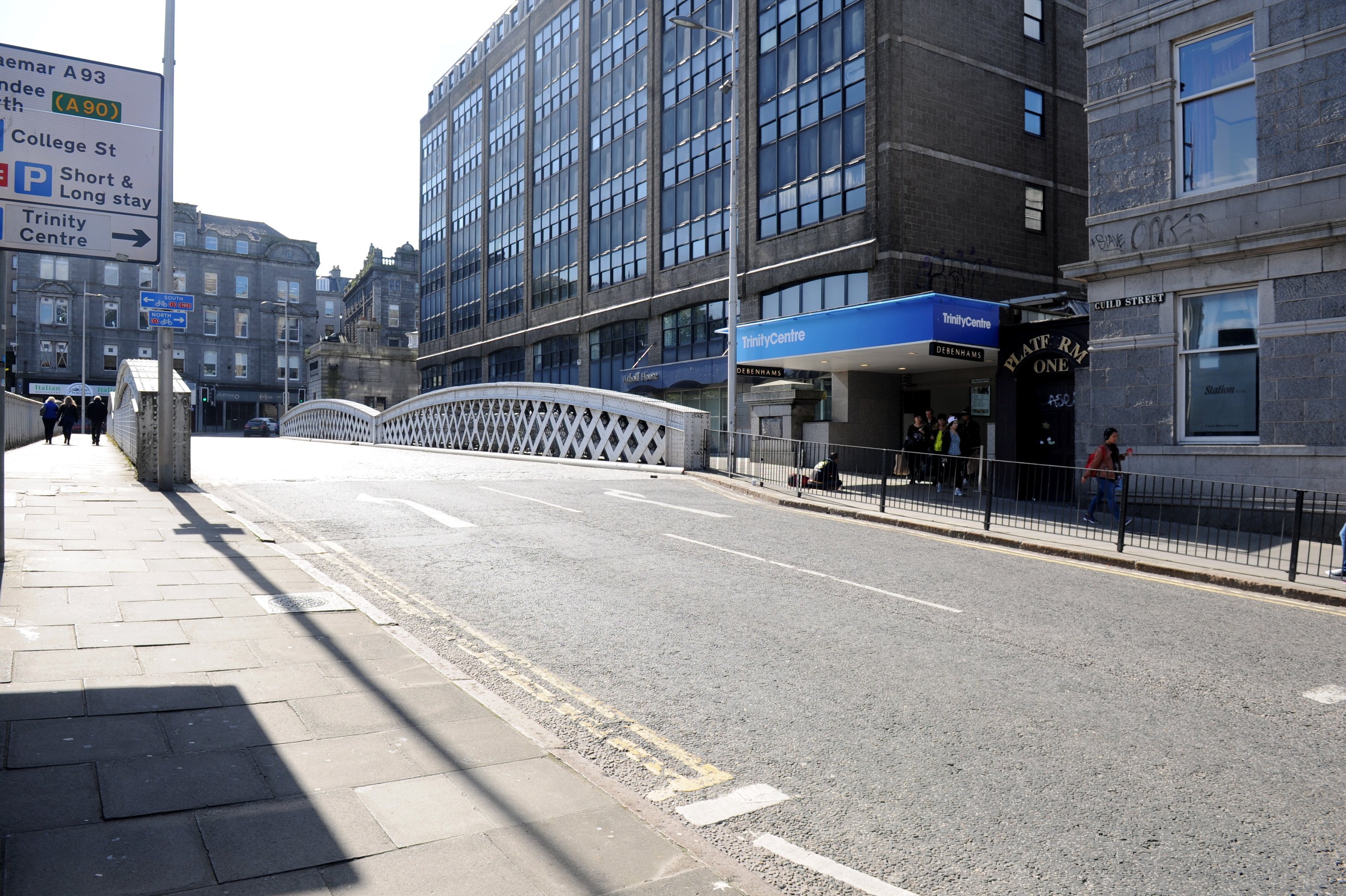 A call has been made to demolish the Guild Street Bridge.