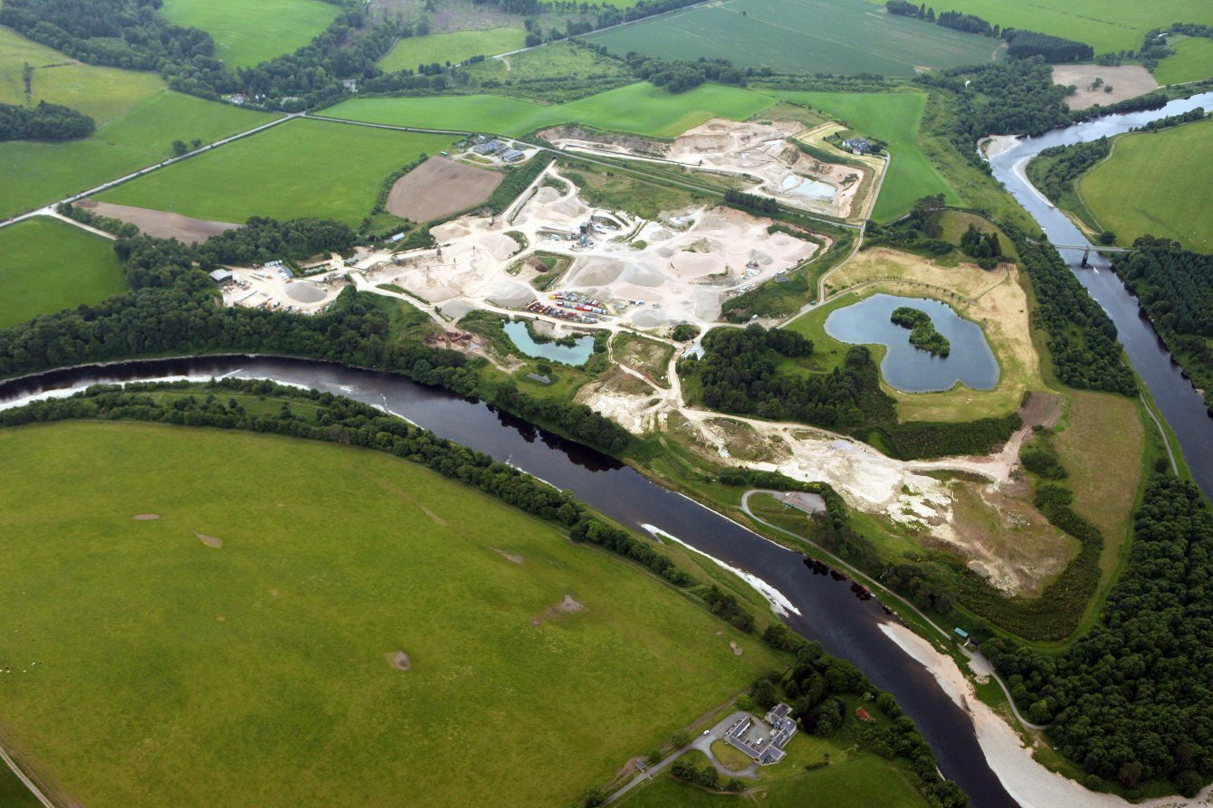The development would be built on the site of Park Quarry, near Drumoak, and could see the bridge across the River Dee upgraded.