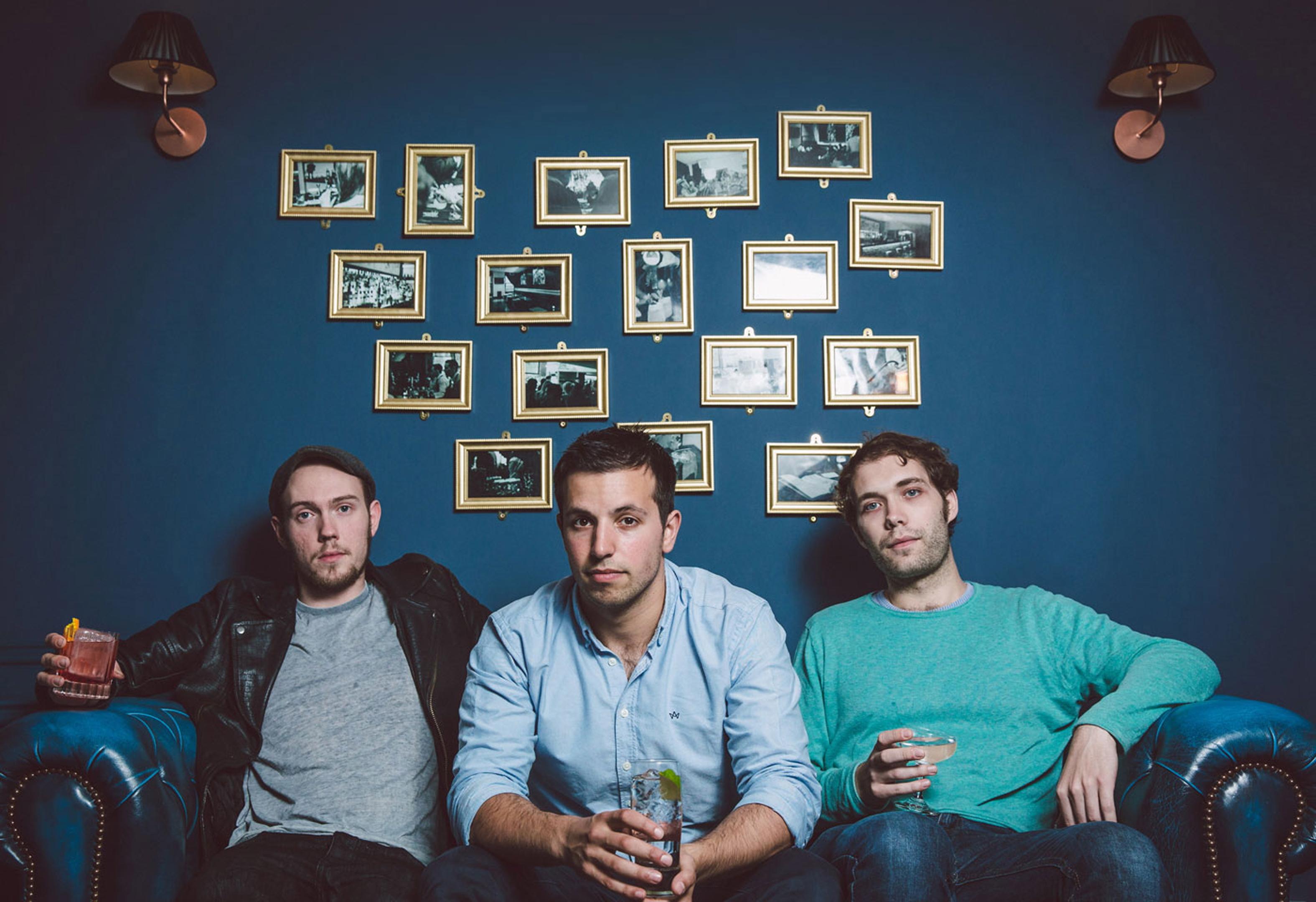 Alex Lawrence, Ben Iravani and Josh Rennie of Porter's Gin.