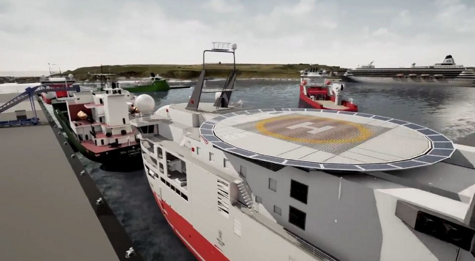 Video impression shows how the new harbour at Nigg could look.