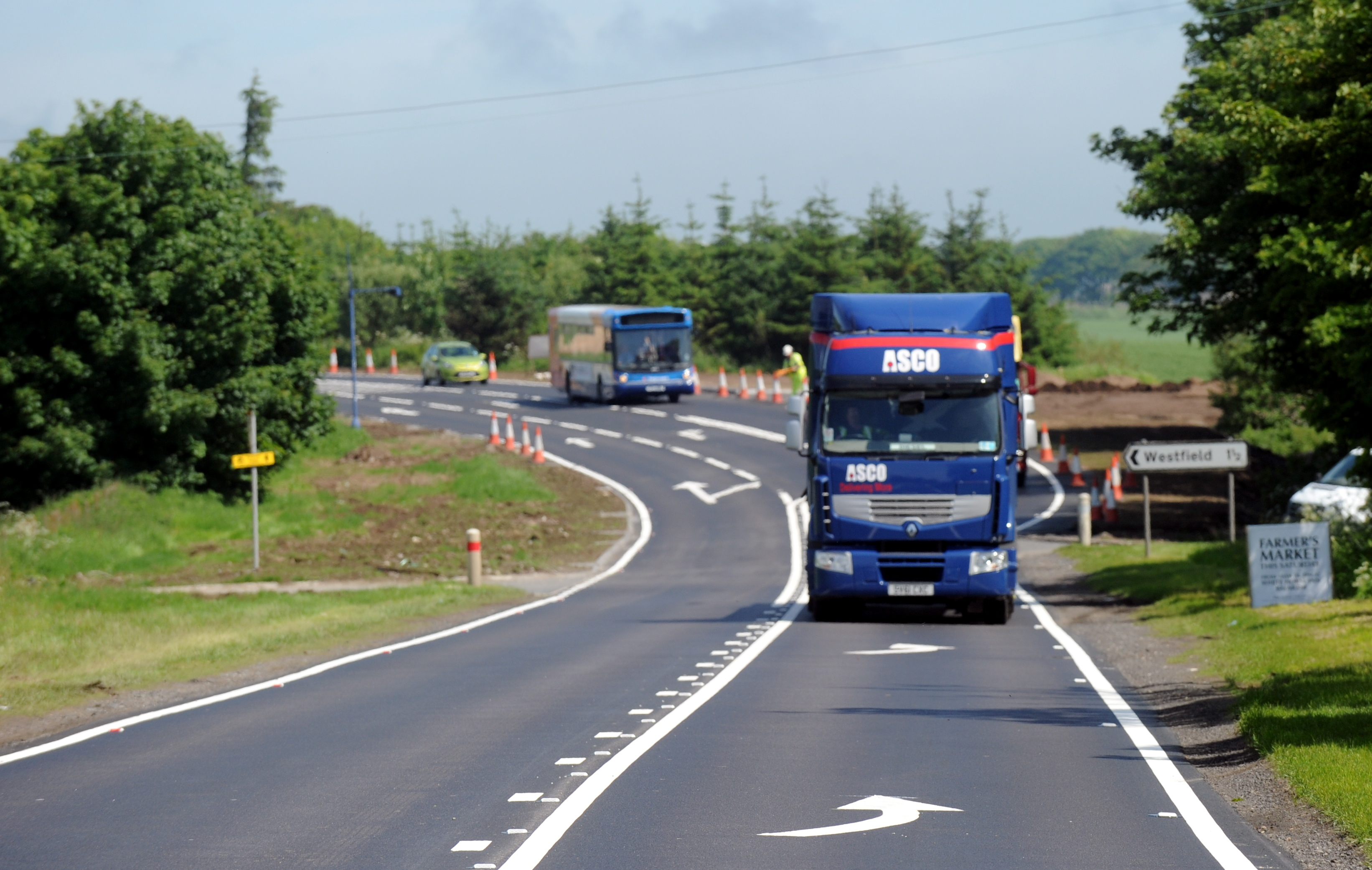 speed:  HGVs  over 7.5 tonnes can currently travel at 40mph on single carriageways.