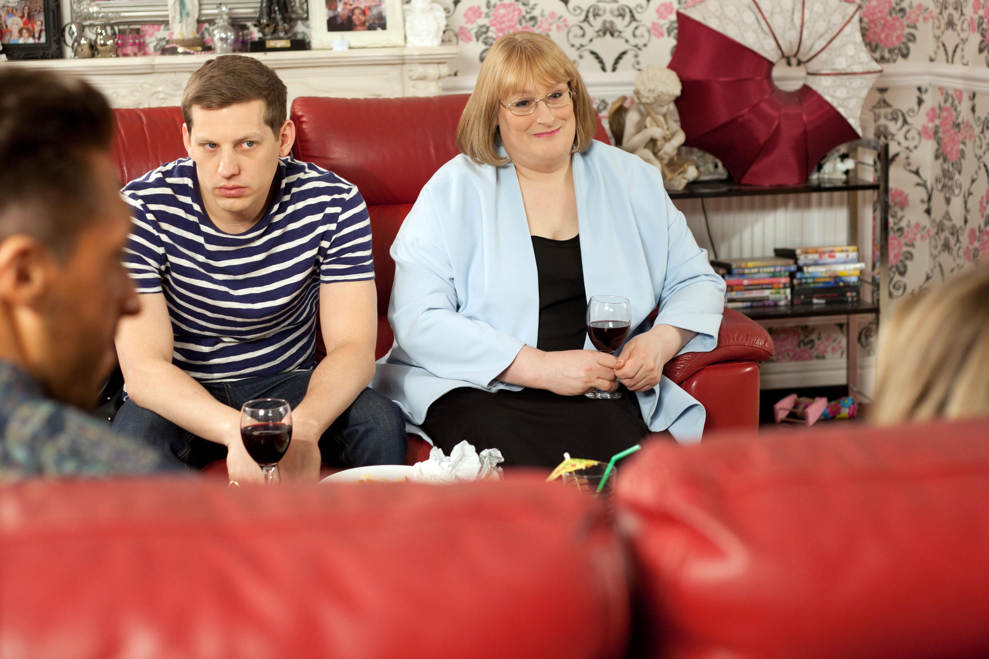 Annie Wallace (right) as Sally St Claire.