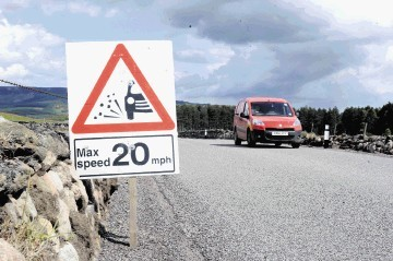 Surface dressing work will mean temporary speed restrictions on around 200 roads.