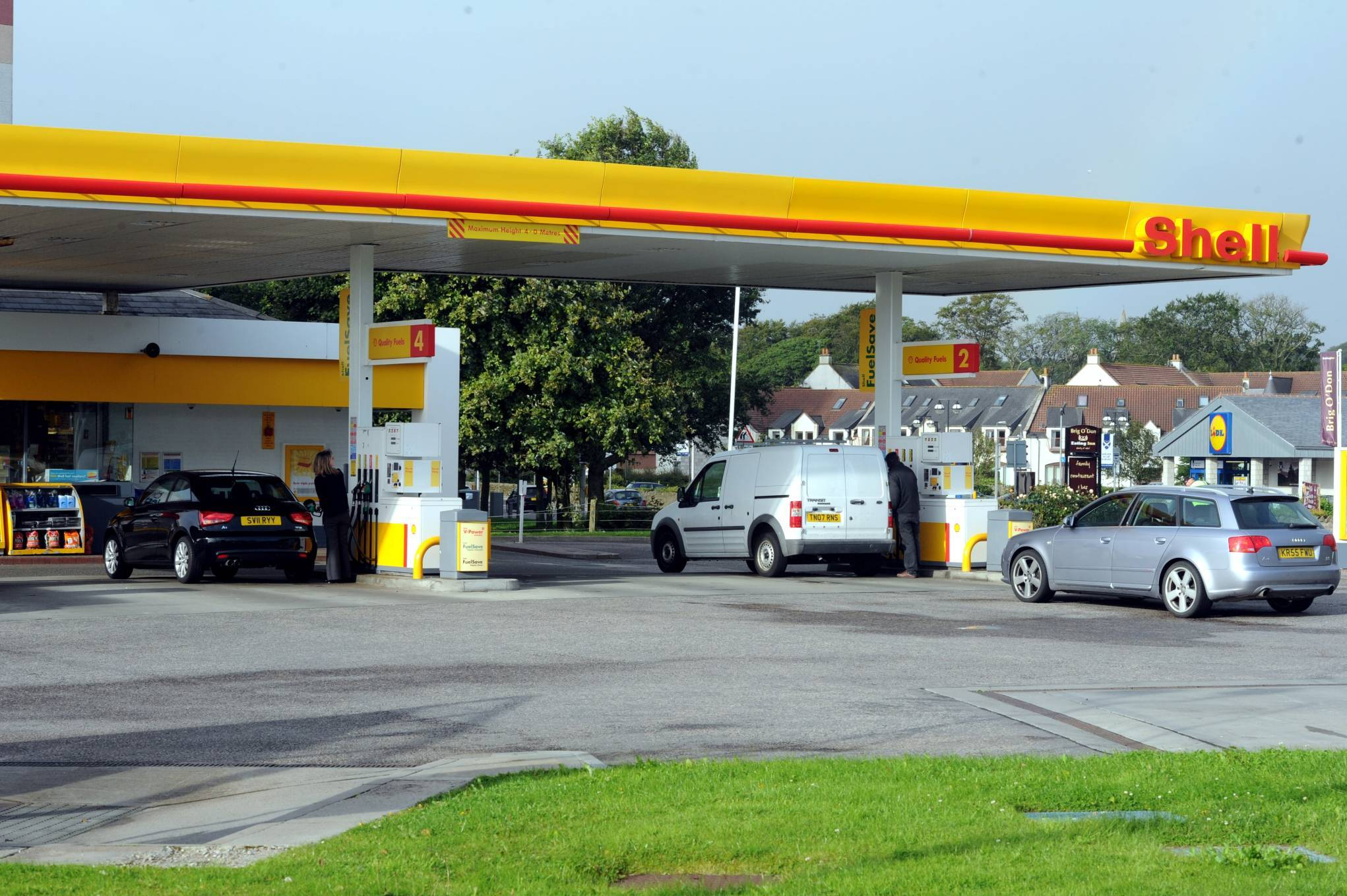 Part of the crime spree allegedly involved petrol being stolen from the Shell garage on King Street.