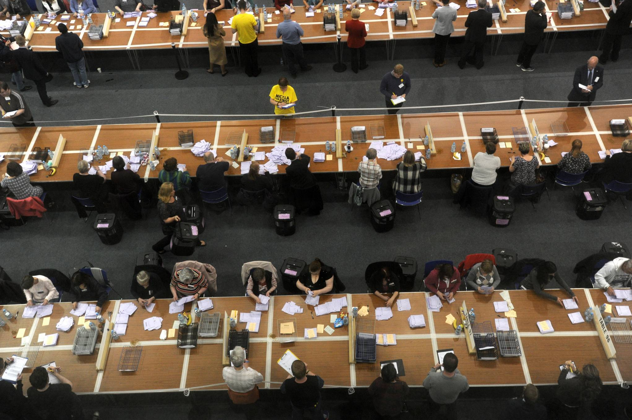 RGU, Aberdeen. election count.