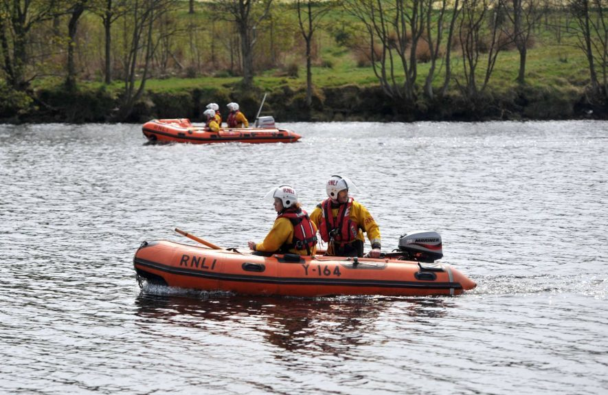 Coastguard teams searched the River Dee this morning to find the missing man.