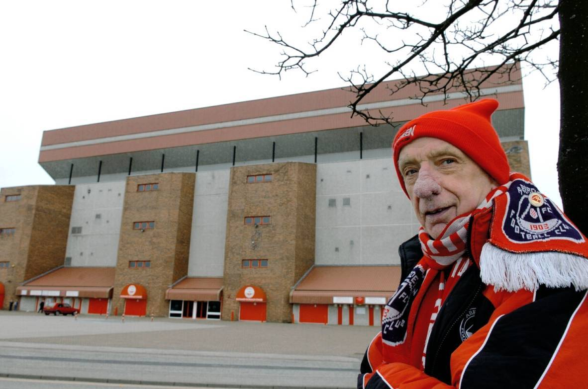 Norman Goldie outside Pittodrie