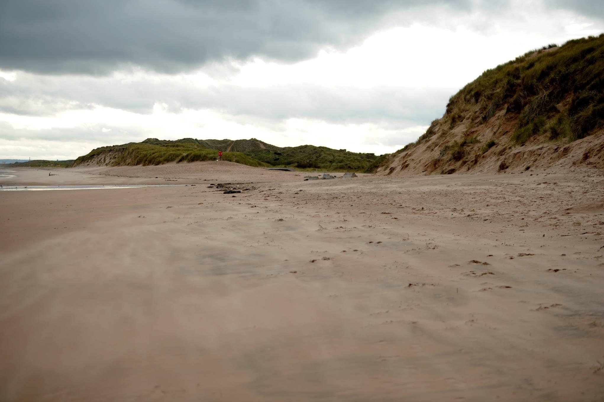 Coastguard teams were called to Balmedie Beach.
