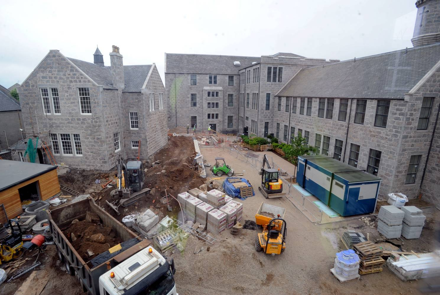 Work under way at the former Causewayend School site.