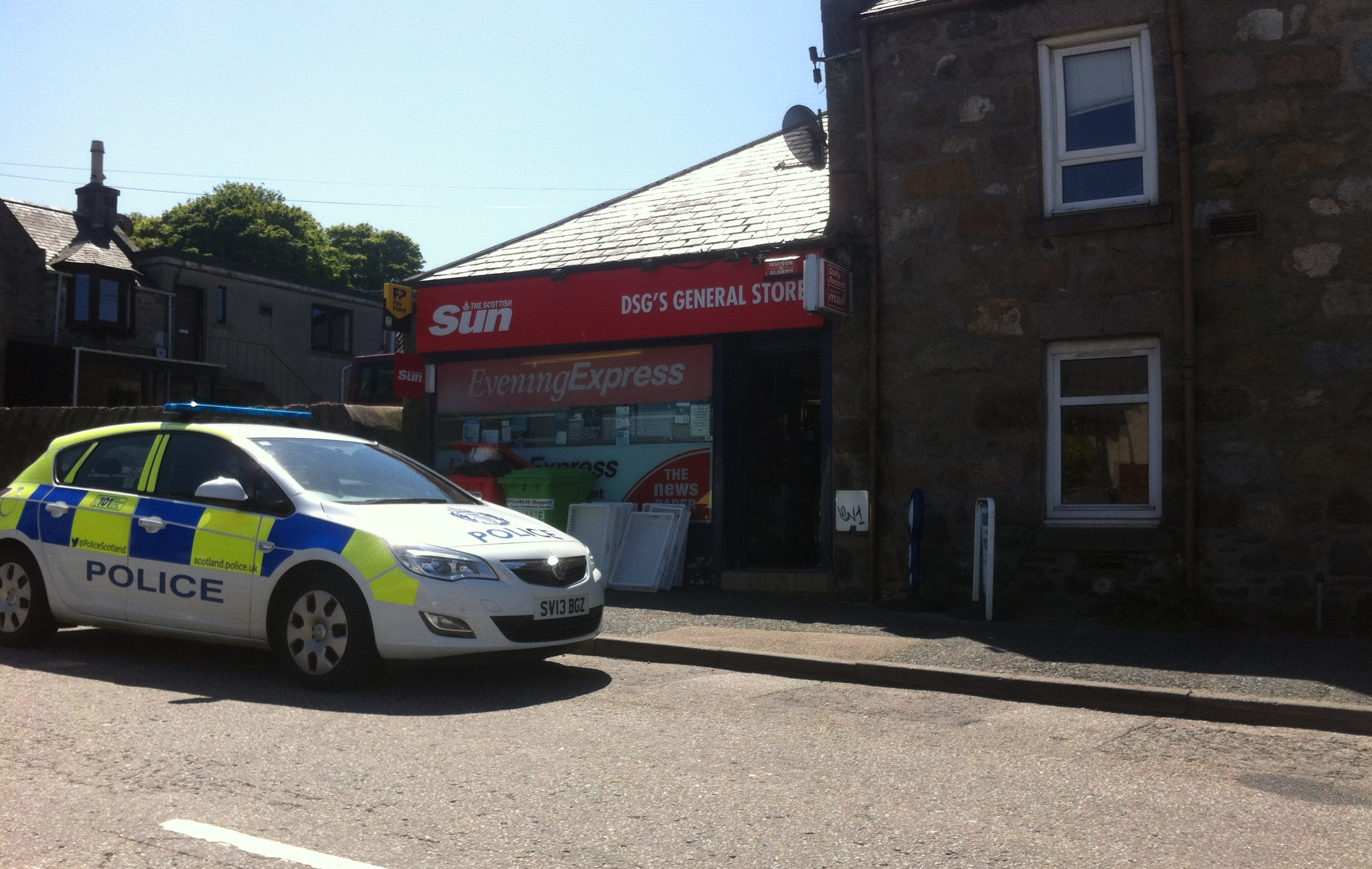 The alleged robbery happened at DSG's General Store in Bucksburn.