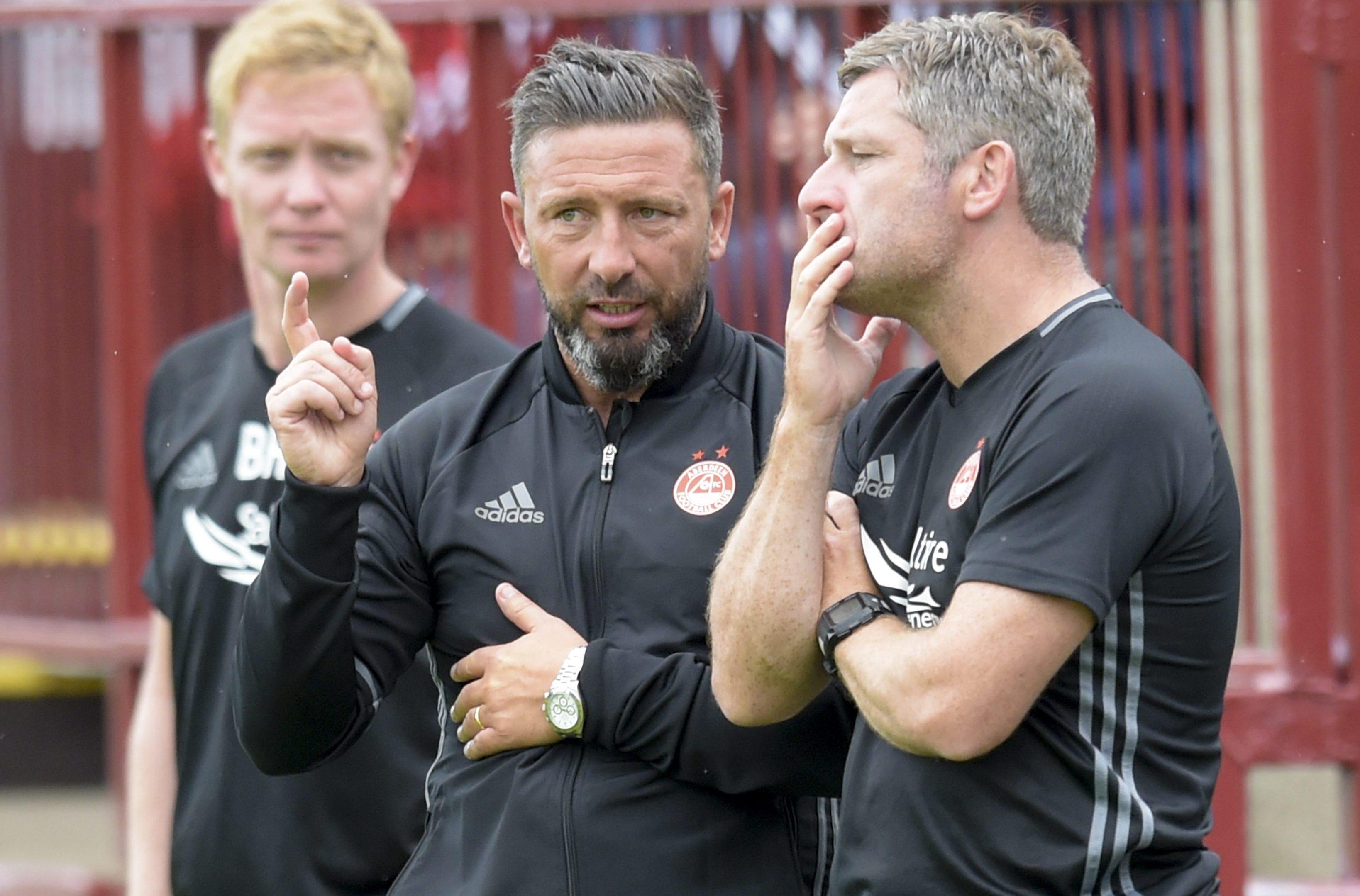 Three of a kind:  From left, Barry Robson, Derek McInnes and Tony Docherty.