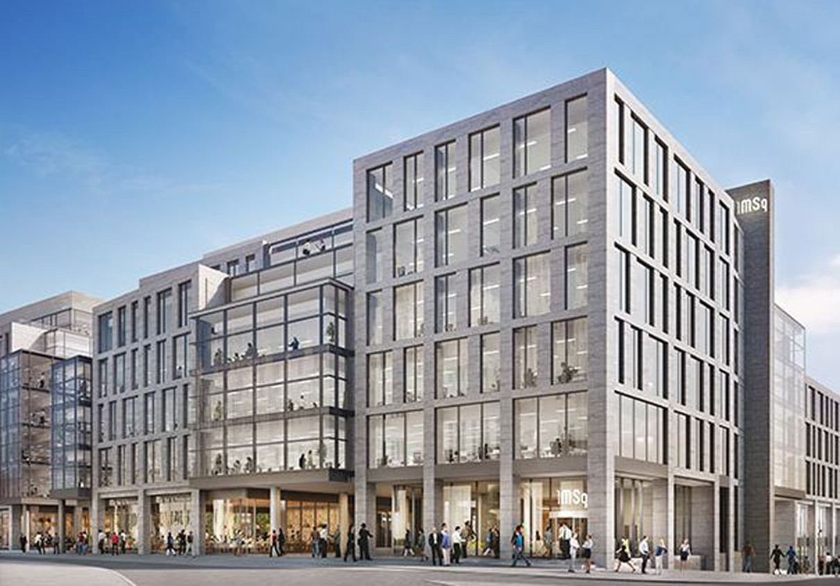 An artist's impression of Marischal Square.