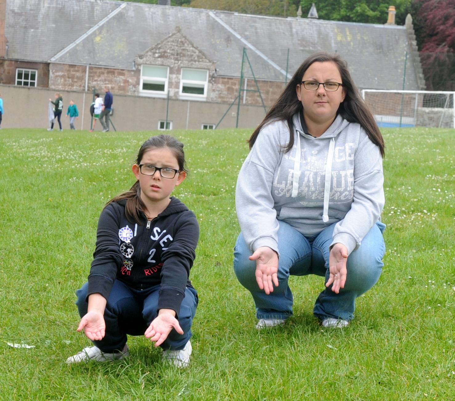 Jodi Crabb, 9, and her mum Vicky.