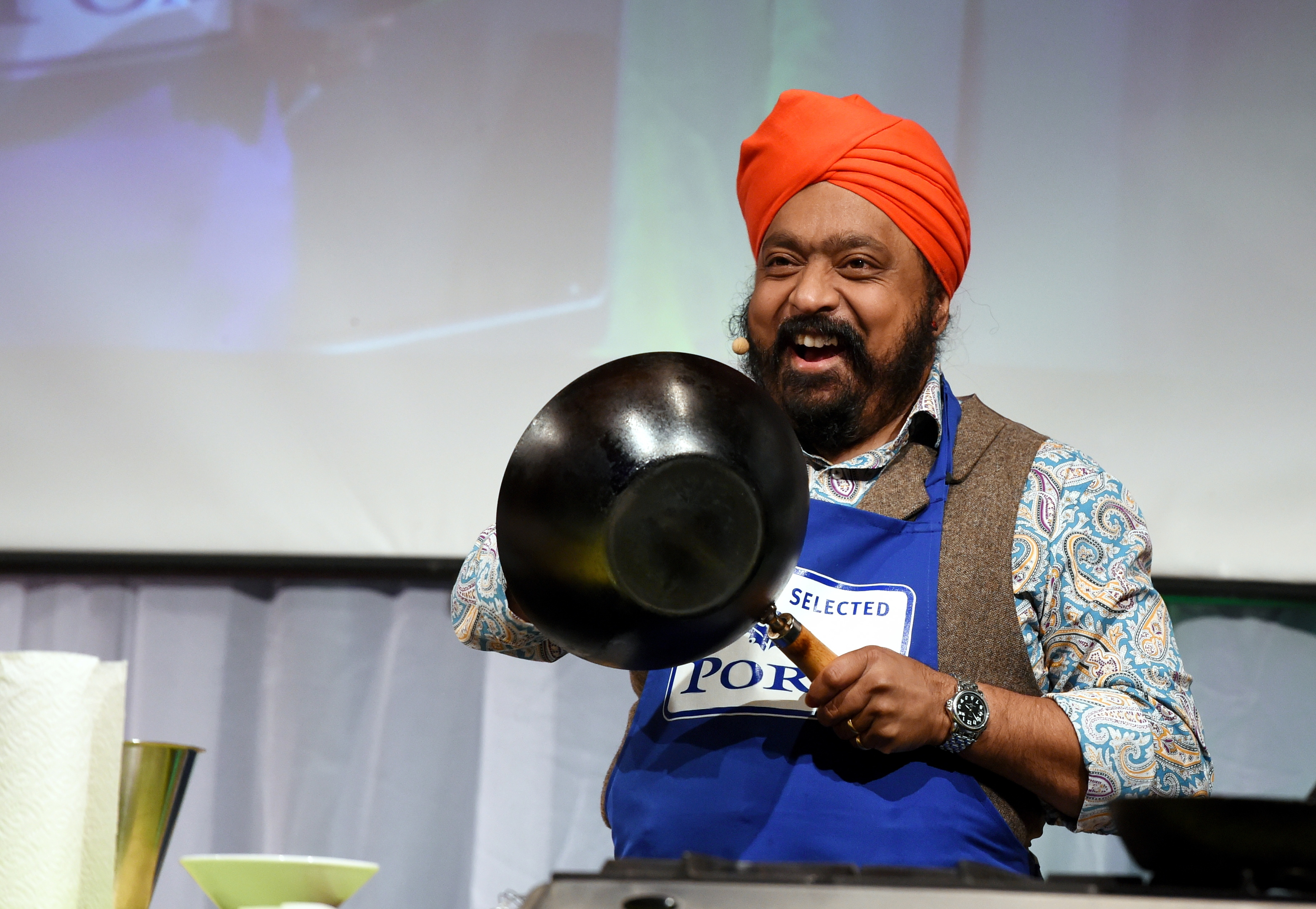 Tony Singh at The Taste of Grampian at Thainstone Centre.