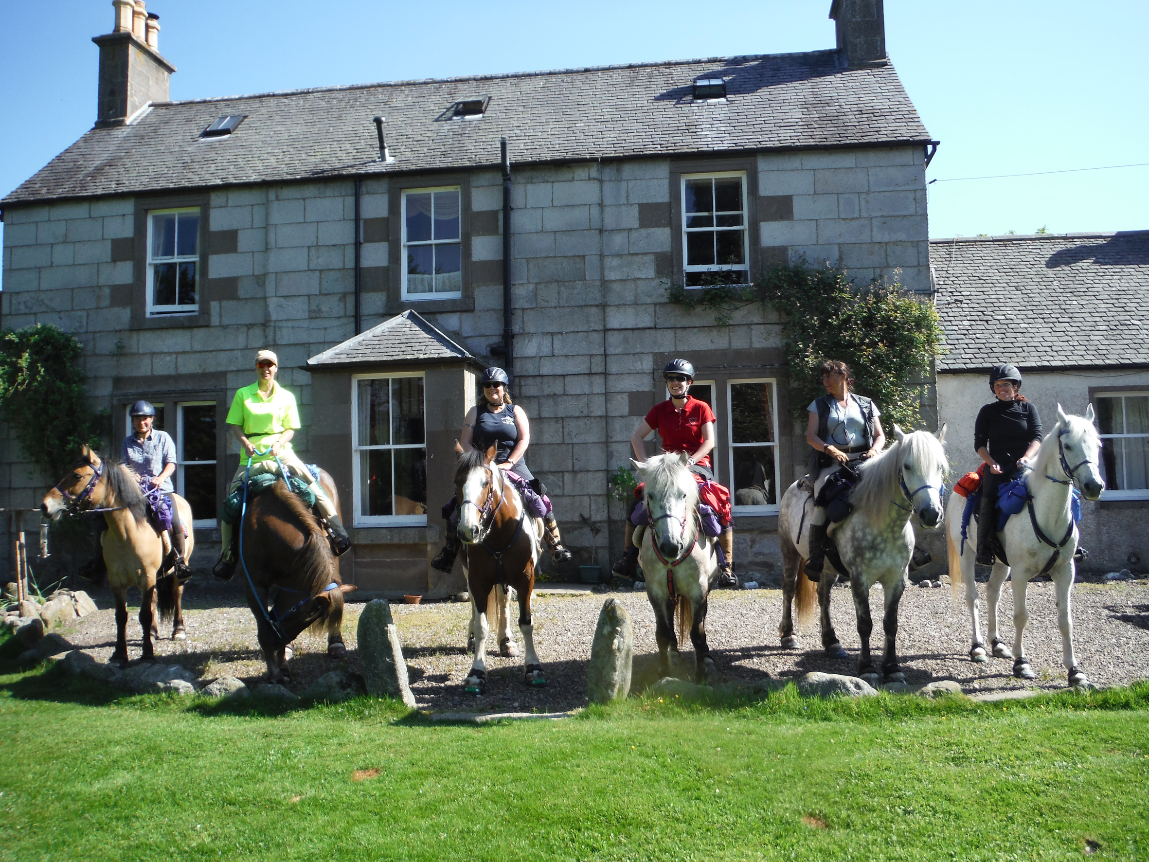 Ponies of Highland Unbridled.  Owner Jan O'Neill, third from left.