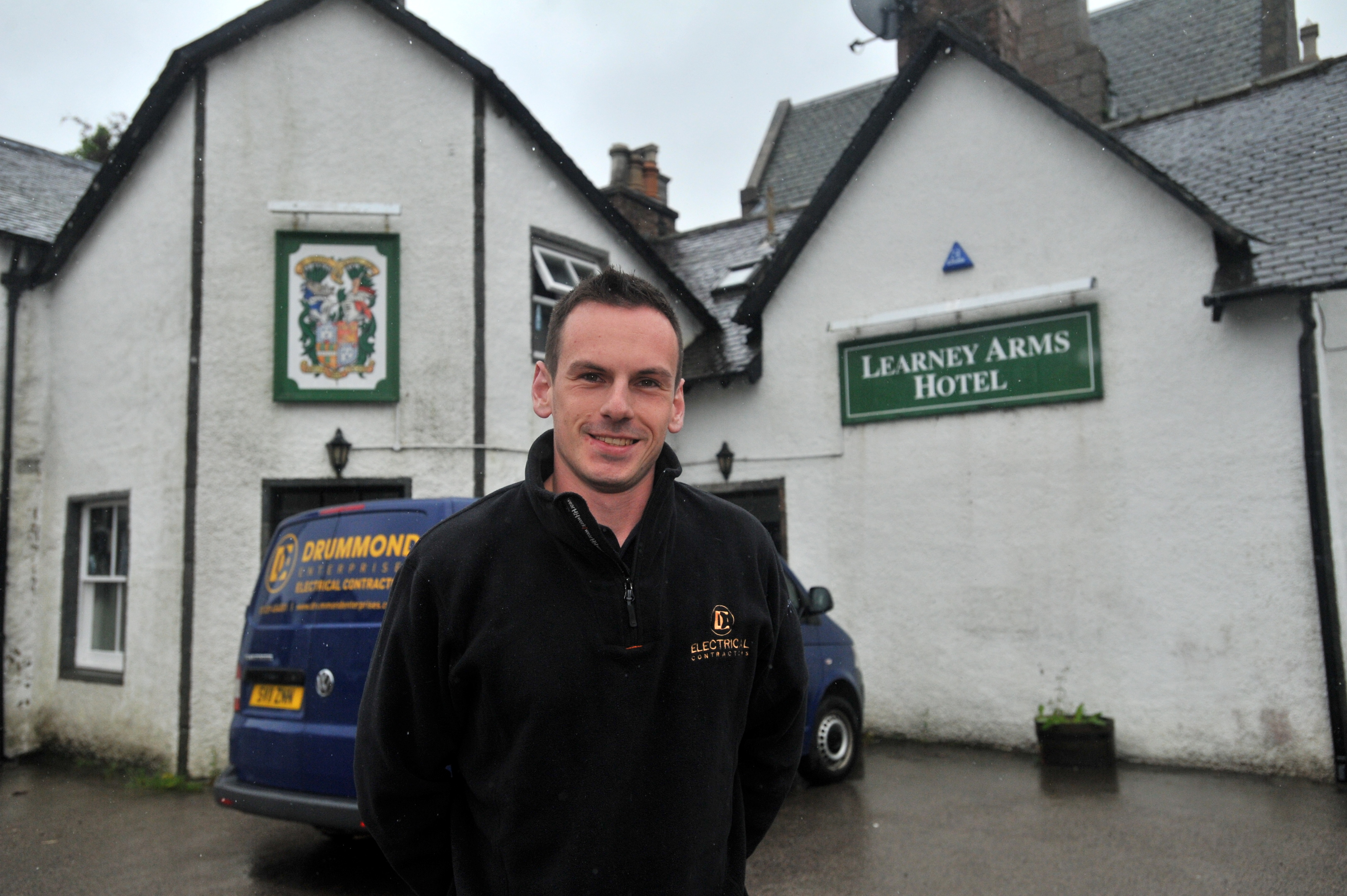 The pub's new owner Thomas Drummond