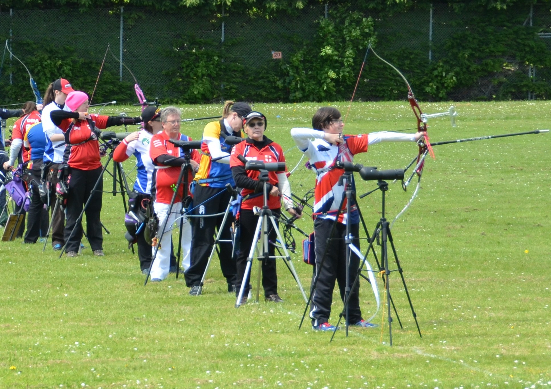 Archers using Mearns Academy's playing fields, which won't  be sold off.