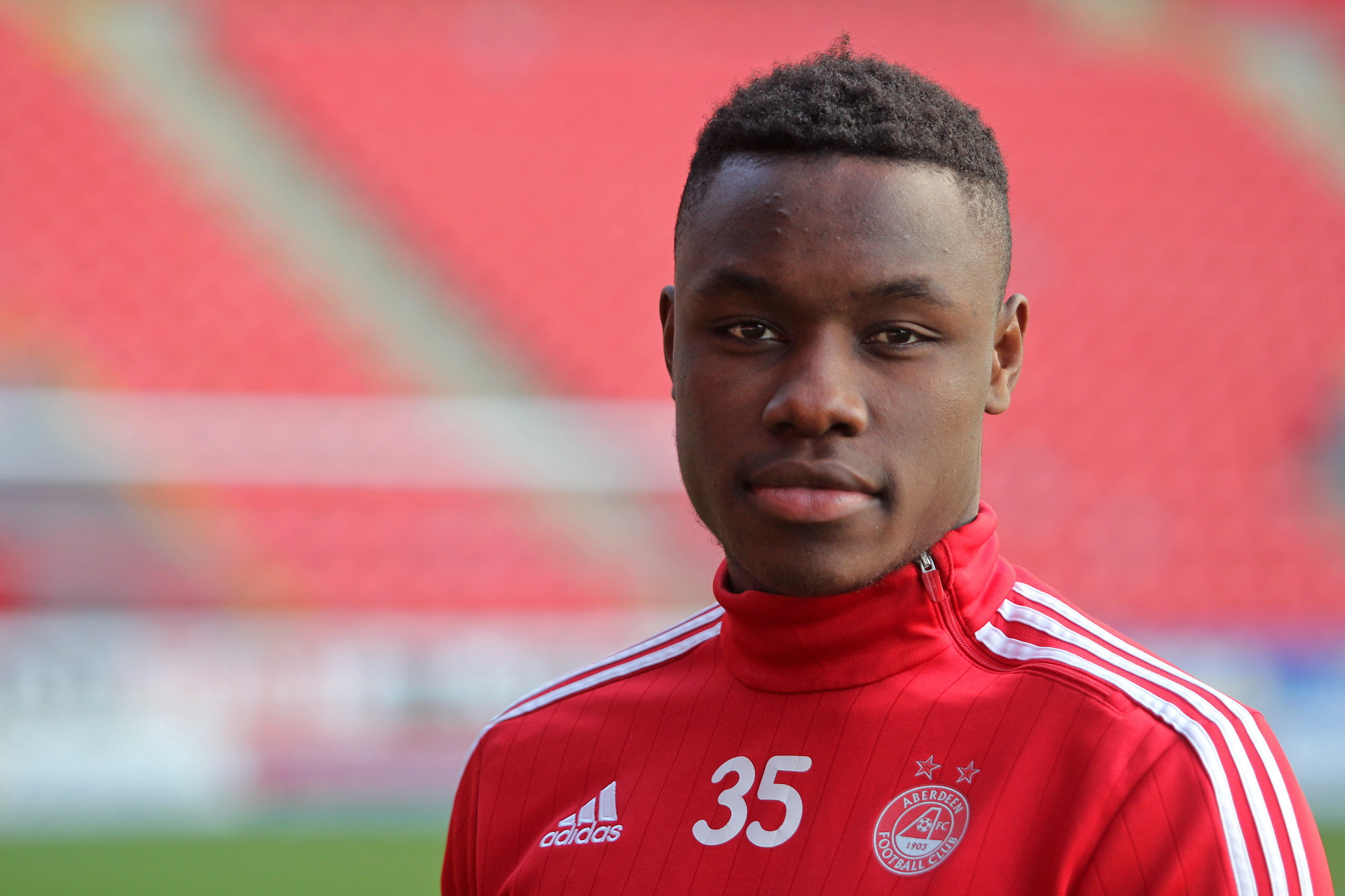 All clear:  Congolese defender  Harlain Mbayo.