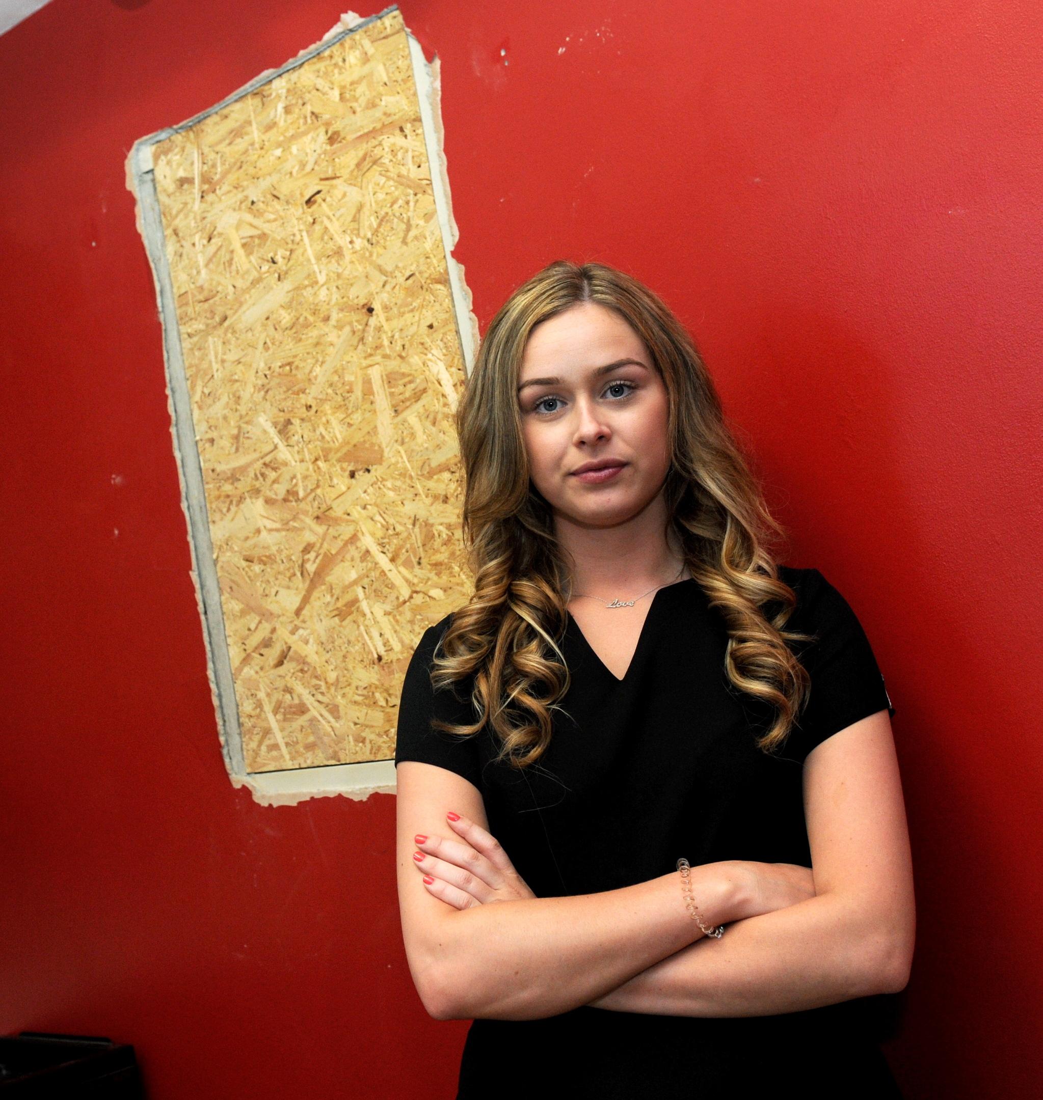 Upset:  Rachel was stunned by raid on Beautylicious salon.