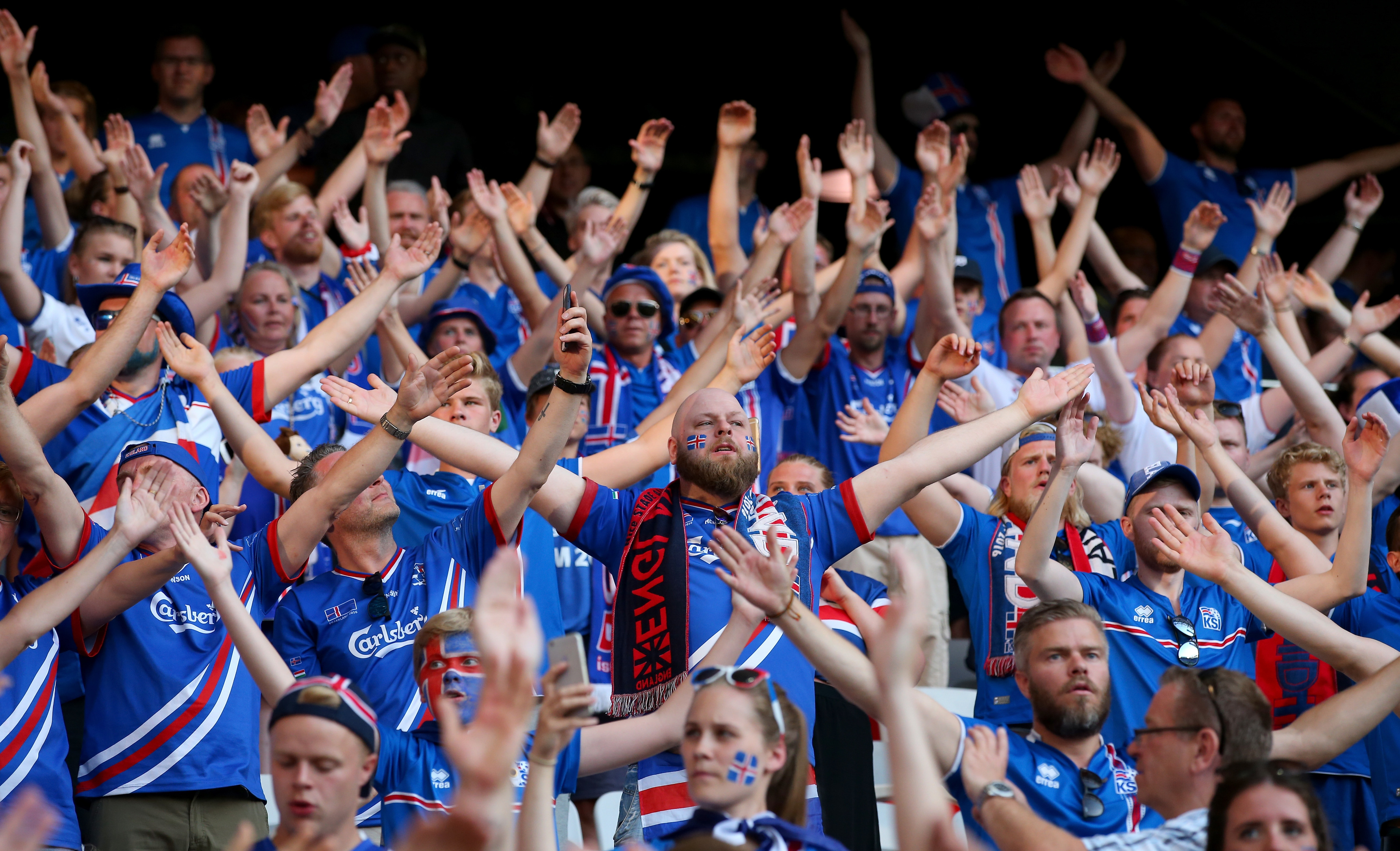 The Iceland fans love it loud