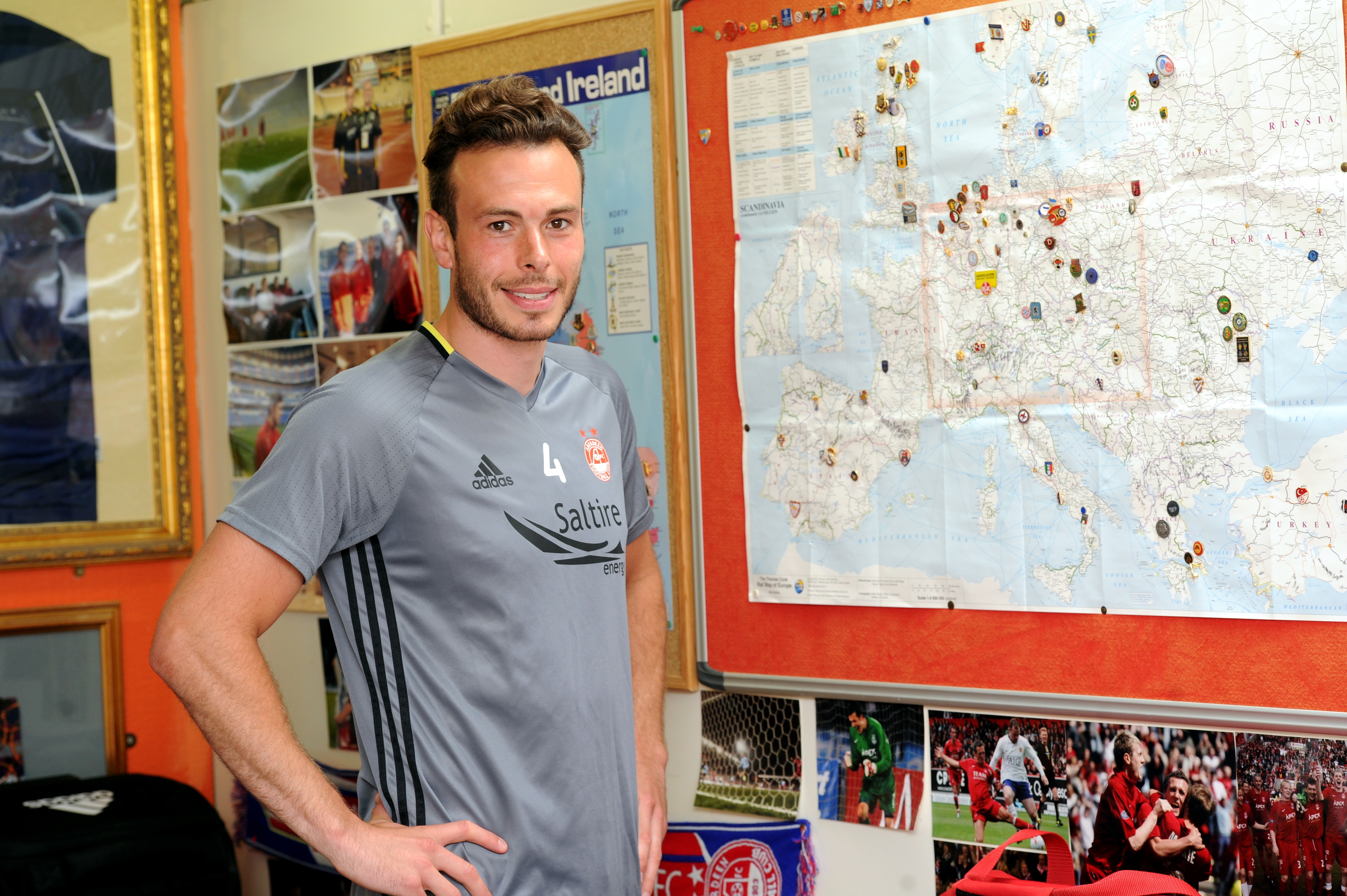 Don's travels: Aberdeen defender Andrew Considine at Pittodrie.