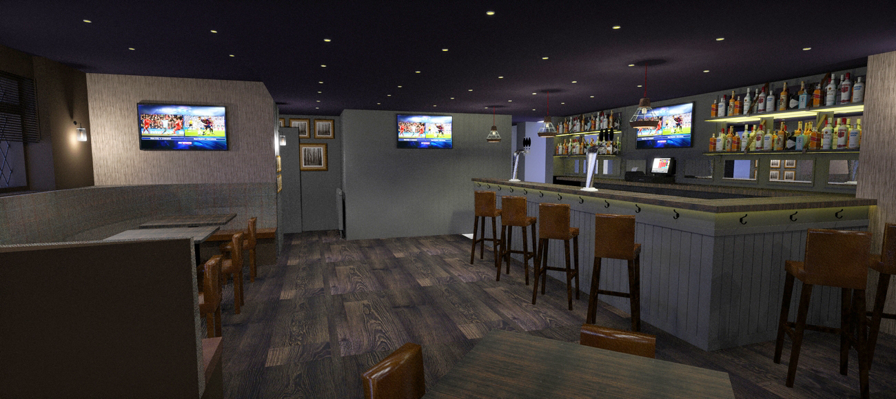 An impression of the new bar.