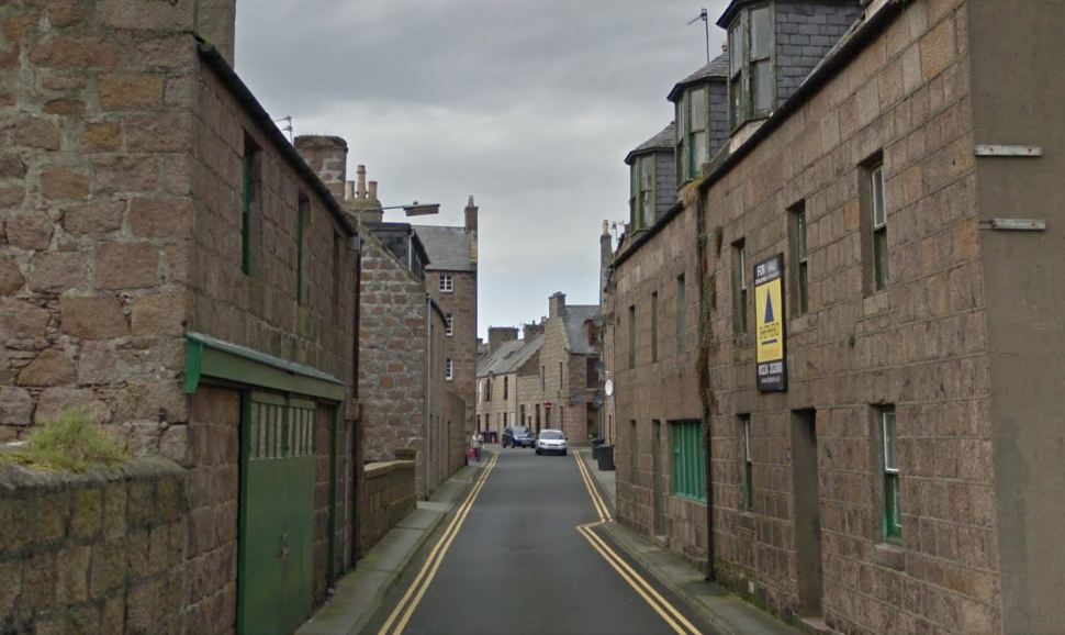 The bomb squad was called to James Street in Peterhead. Picture: Google 2016.