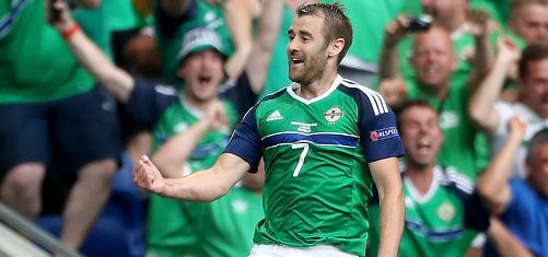 Niall McGinn scored for Northern Ireland today.