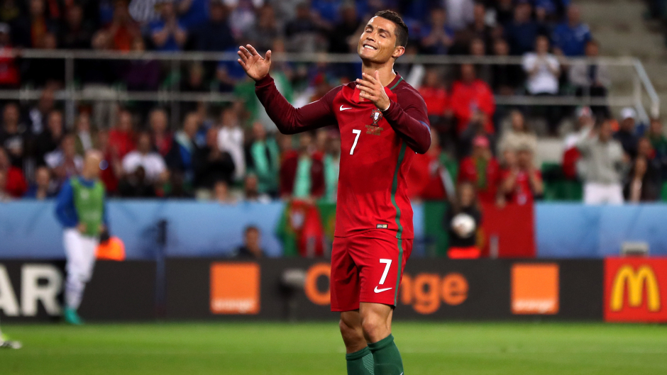 Portugal's Cristiano Ronaldo was not impressed by Iceland