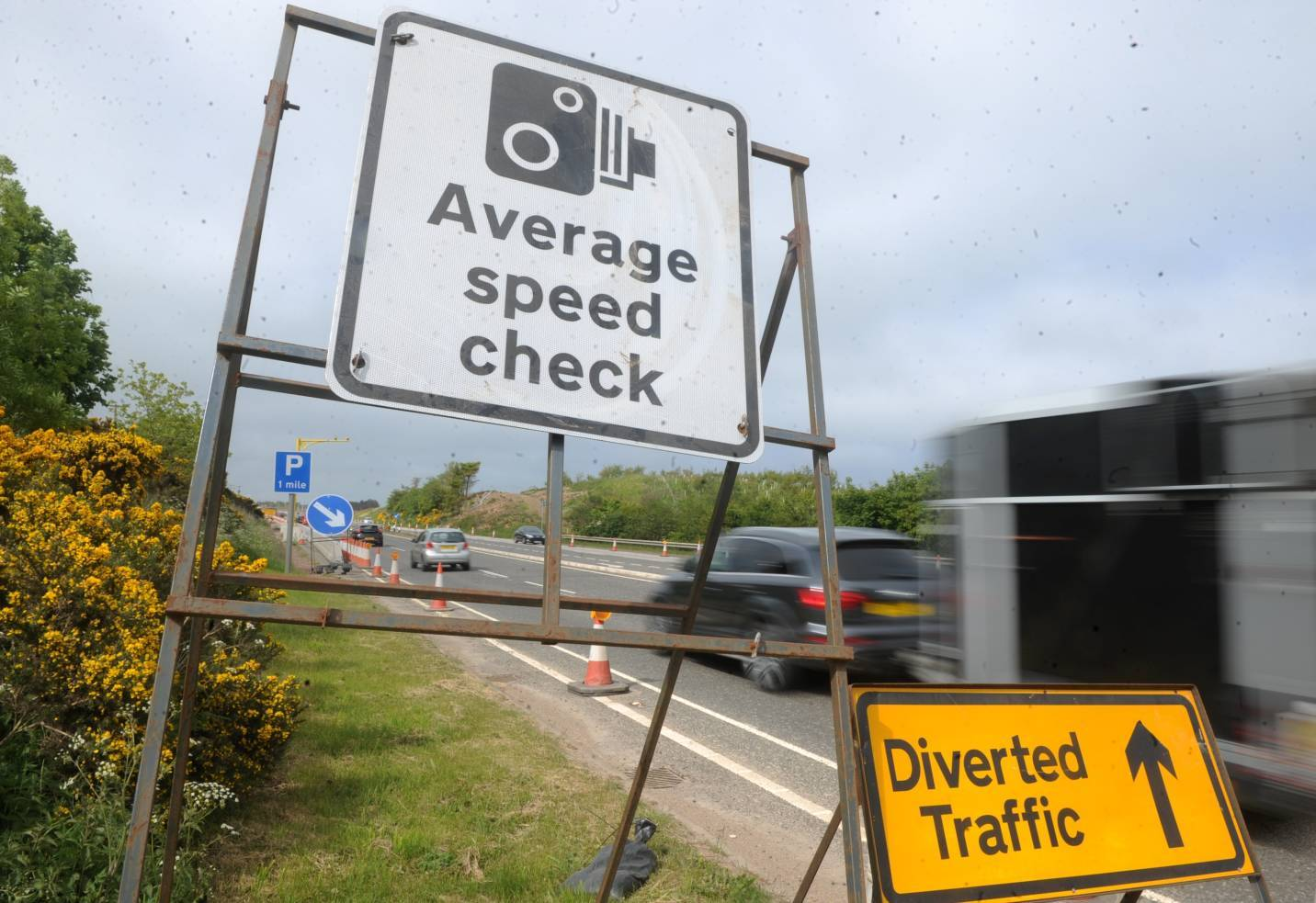 New signs have been put up on the A90.