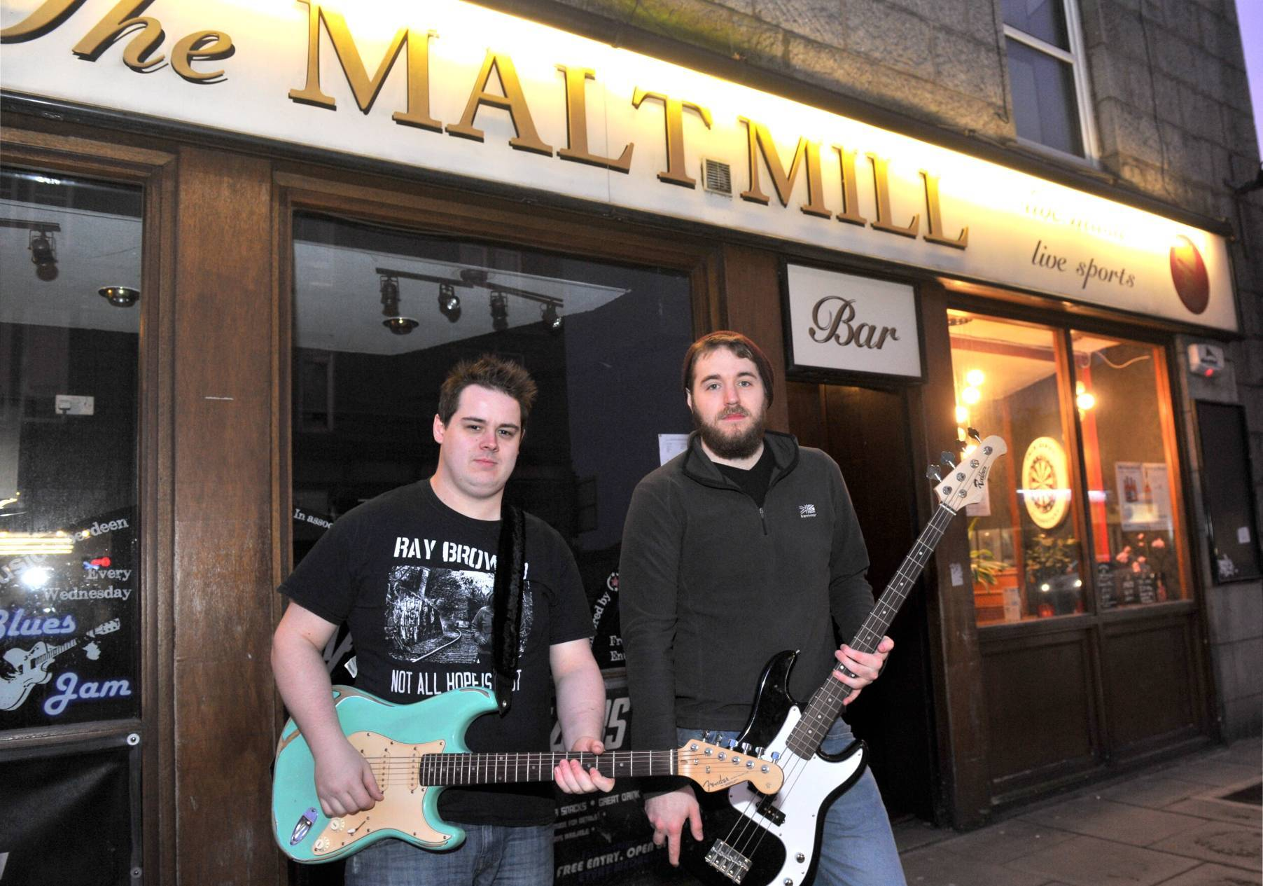 From left, Gavin Bassett and David McGhie.
