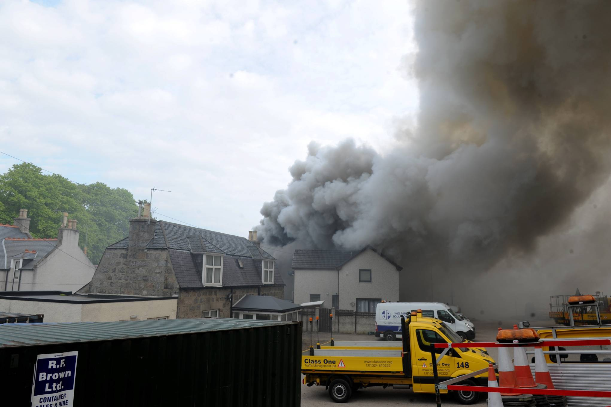 Pictured is the fire at the Britannia Hotel Aberdeen, Bucksburn, Aberdeen. Picture by Darrell Benns Pictured on 09/06/2016