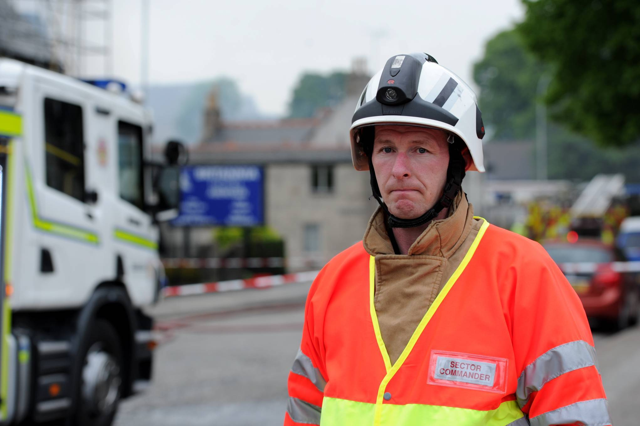 Scottish Fire and Rescue Service station manager Graeme Hay.