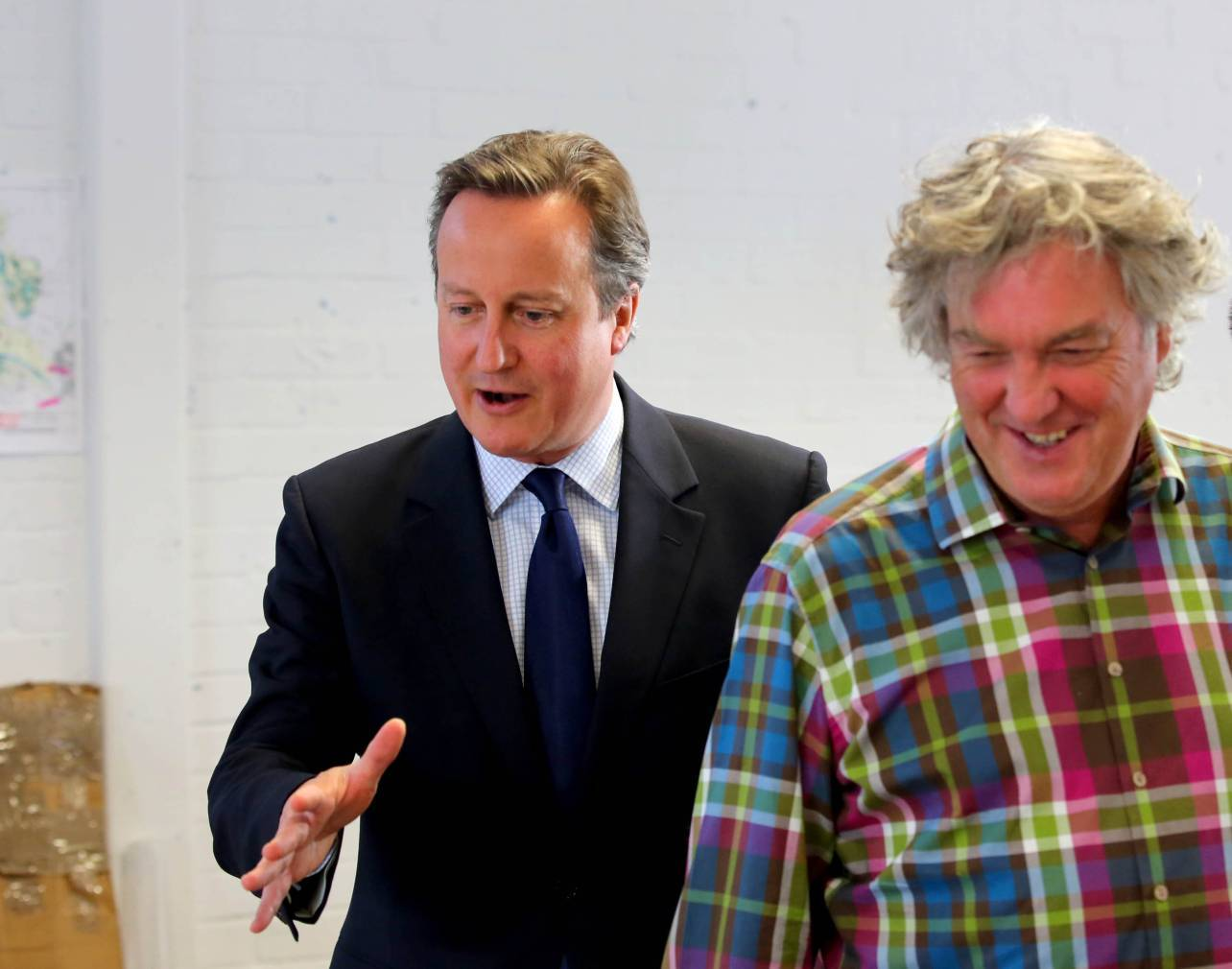 David Cameron meets James May