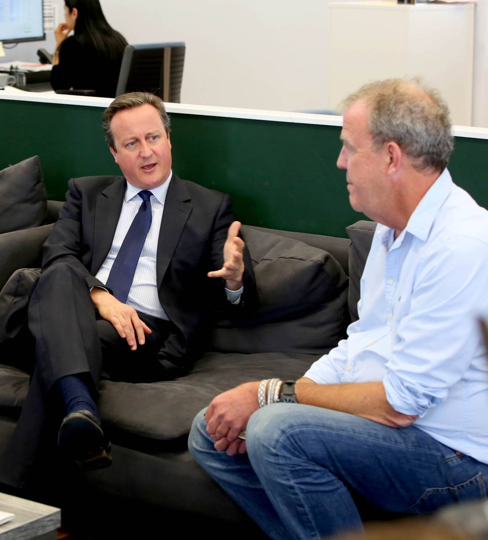 Prime Minister David Cameron meets Jeremy Clarkson