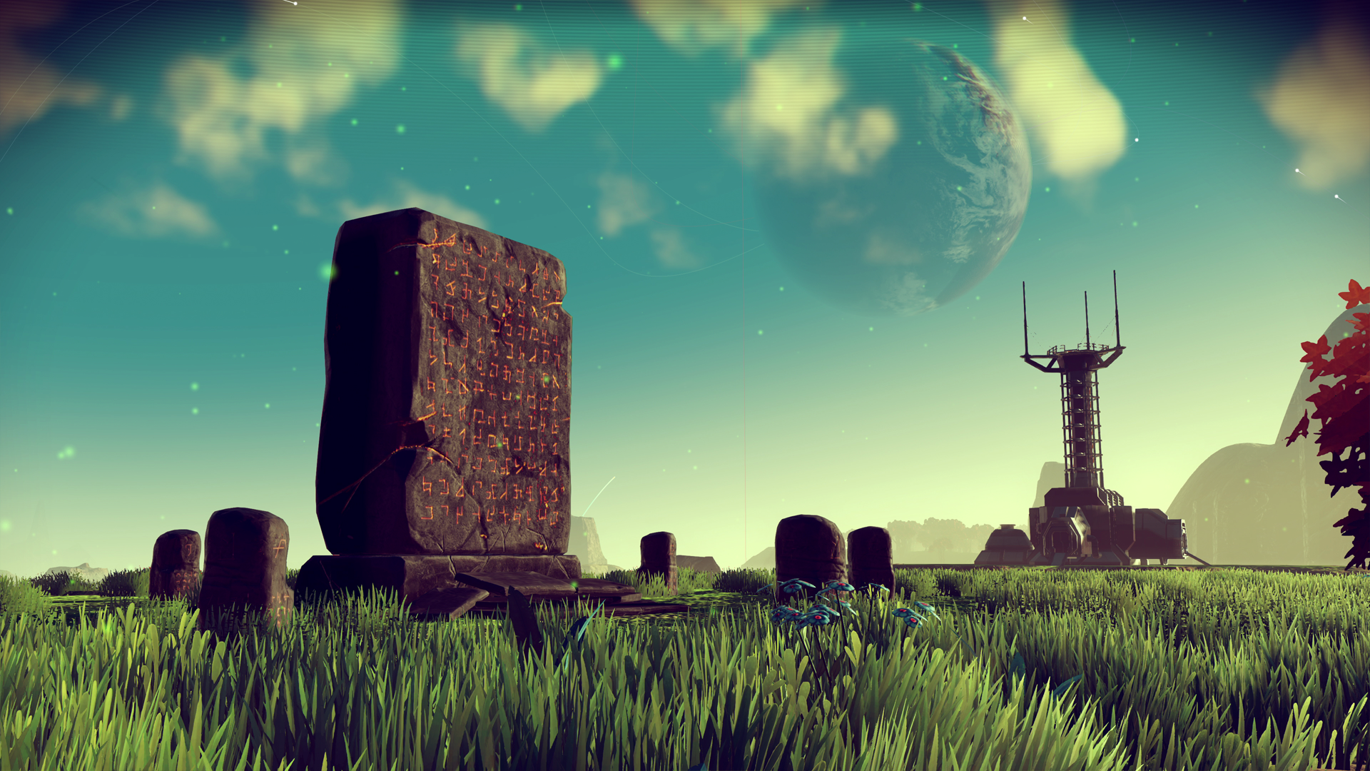 Relics dotted around planets will help you translate alien languages