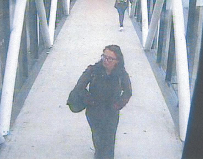Amanda Tomison pictured at Aberdeen train station.