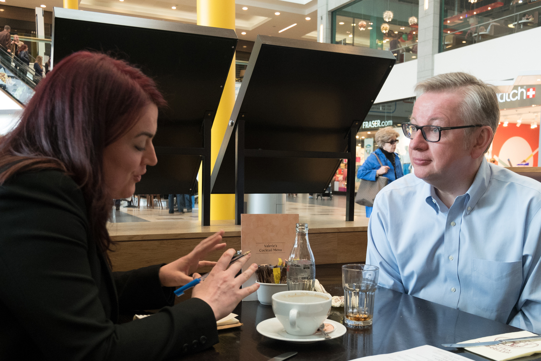 Hopes: Evening Express reporter Jennifer McKiernan interviews Mr Gove.