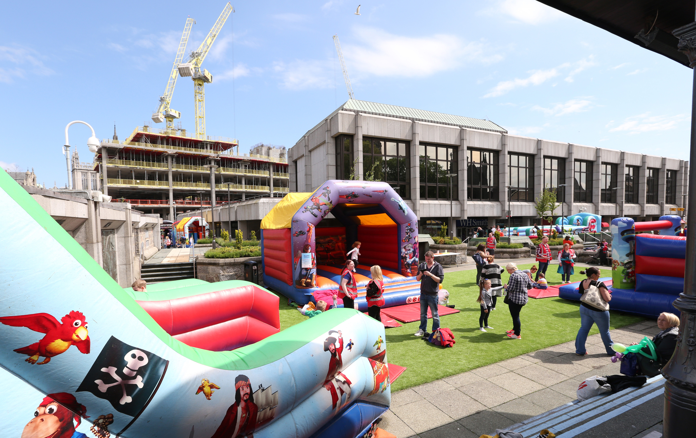 The Big Bounce event at St Nicholas Centre rooftop gardens.