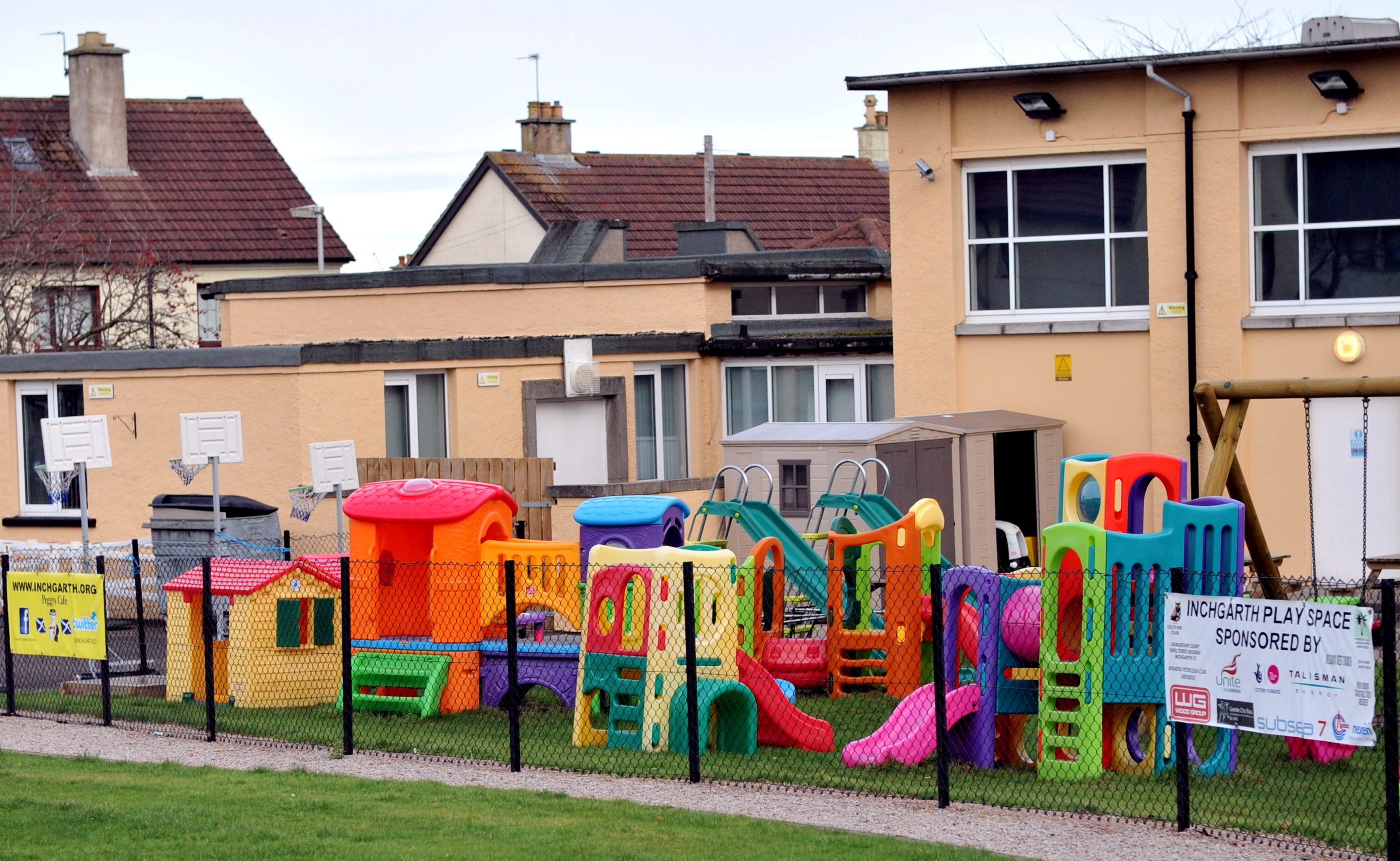 The children's play area at Inchgarth Community Centre