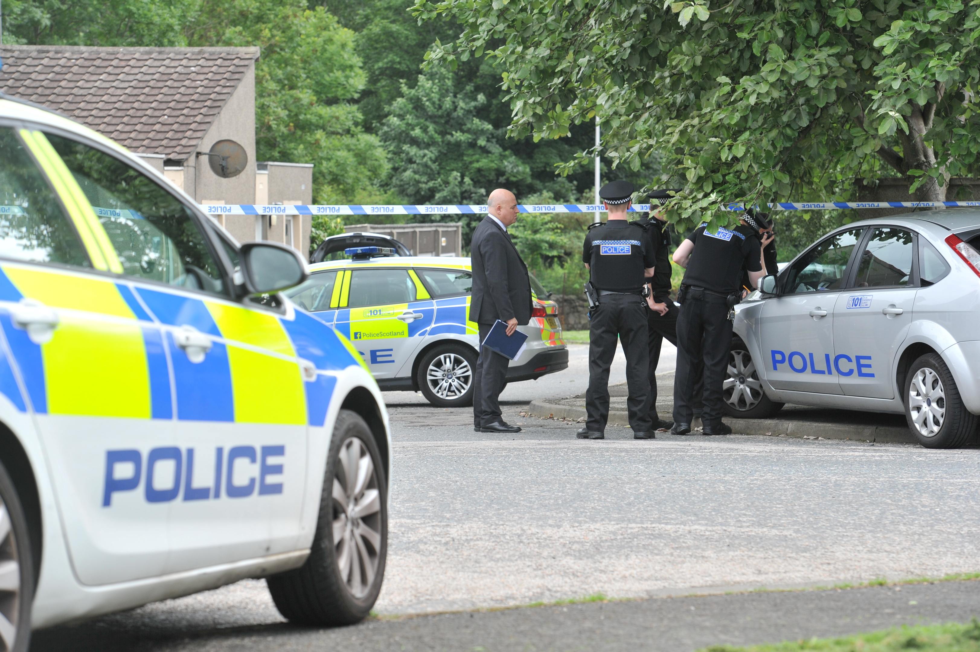 The man was found in a house in the Bucksburn area.