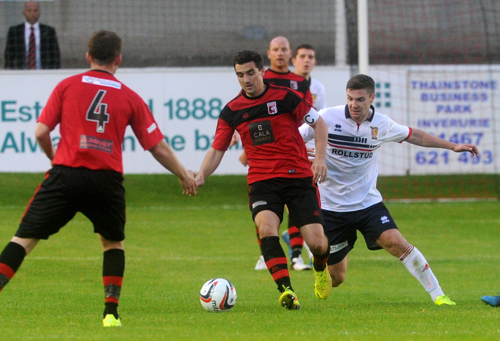TUSSLE:   Inverurie's Neil McLean, left,  and Formartine's Graeme Rodger.