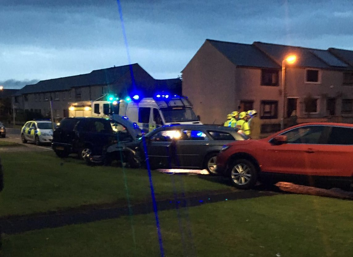 The crash happened in the West Road area of Fraserburgh.