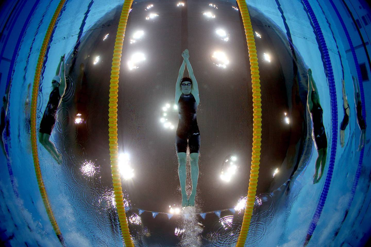 Hannah Miley of Great Britain competes in the Women's 400m Individual Medley final during the British Gas Swimming Championships at the London Aquatics Centre.