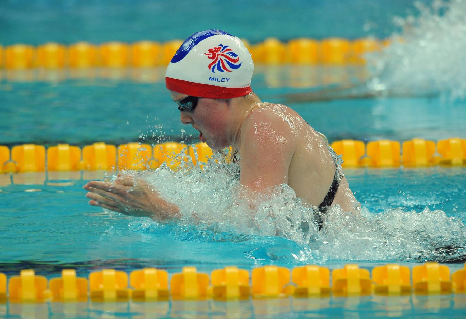 Great Britain's Hannah Miley in action at the National Aquatic Center in Beijing