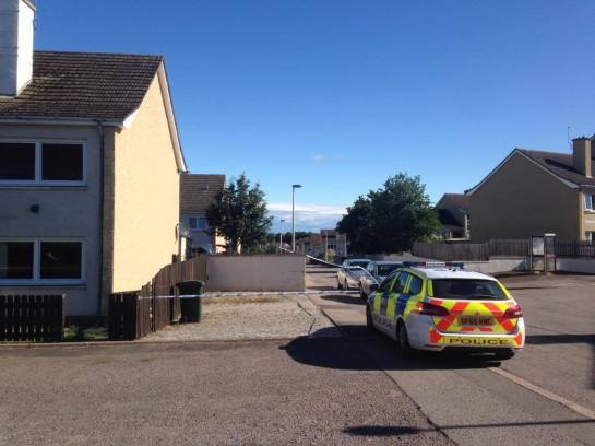 A section of Murray Street in Elgin was cordoned off following the alleged incident.