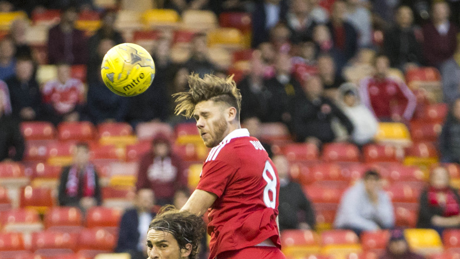 Wes Burns headed home on his Aberdeen debut